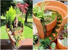 Crea tu propio jardín a partir de una maceta rota! - Solo Remedios