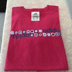 Cute adidas shirt! 100% cotton pink and small size adidas shirt. Adidas Tops Tees - Short Sleeve
