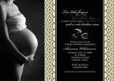Sonogram Photo Card Baby Shower Invitation
