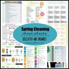 This house needed a major overhaul and these Spring Cleaning Cheat Sheets helped!