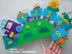 Diy Quiet Books, Baby Quiet Book, Felt Quiet Books, Quiet Book Templates, Quiet Book Patterns, Preschool Crafts, Crafts For Kids, Diy Bebe, Art Drawings For Kids