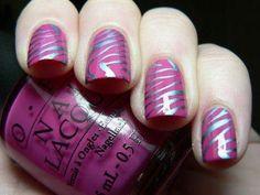 nail art - zebra