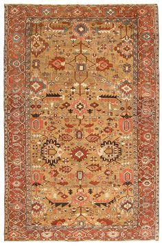 Antique Heriz Serapi Persian Rugs #43208 http://nazmiyalantiquerugs.com/antique-rugs/heriz-rugs/