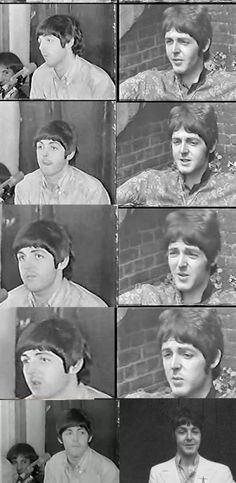 The photos on the left are screen shots from an press conference in August 1966, the ones are the right are screen shots from an interview in June 1967. They most definitely look like two different people...if you watch the actual video footage (available on Youtube) you can also hear that the voices are different...