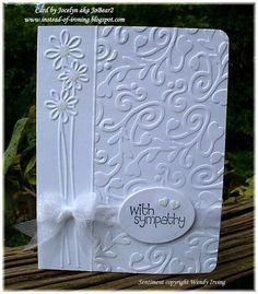 Cuttlebug+Christmas+Card+Ideas   Sympathy card using Cuttlebug and Sizzix embossing folders