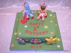 In The Night Garden Cake. In the night garden cake with Iggle Piggle and Upsy Daisy modelled characters, and not forgetting the Haahoos