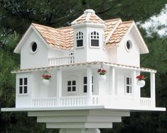 Home Bazaar Post Lane Cottage Bird House at BestNest.com