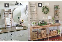 Decorative Ladder | Ladder Pot Rack | Ladder Towel Rack. DECOR STEALS: SMALL:$32.99; LARGE: 37.99.