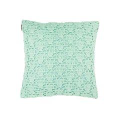 Aura Mint Crochet Cushion from Domayne Online