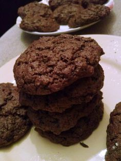 Brown Butter Cocoa Coffee Cookies