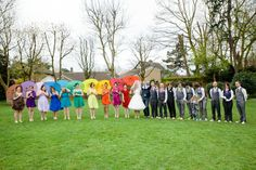 Rachel and Philip's Rainbow Wedding With Bouncy Castle, Ferret Racing, DIY Afternoon Tea and a Candy Anthony Dress. By Tux and Tales