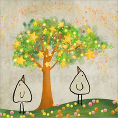 Sternenbaum Piep Poster von M. Tenbergen