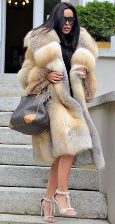 2017 GOLDEN ISLAND FOX FUR COAT HOOD CLAS OF CHINCHILLA SABLE MINK SILVER JACKET