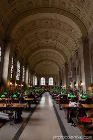 Est. in 1848 Boston Public Library  was the first publicly supported municipal library in the United States, the first large library open to the public in the United States, and the first public library to allow people to borrow books and other materials and take them home to read and use.