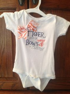 Auburn Tiger Girls Wear Bows and Bling by SassyLittlePeaches