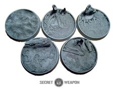 Beveled Bases: Blasted Wetlands 40mm - Click Image to Close