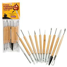 Pumpkin Carving Tools- Halloween Sculpting Kit with 11 Double Sided Pieces (21 Tool Set) for Jack-O-Lanterns and More: This set of pumpkin carving tools is the ideal kit for carving pumpkins and jack-o-lanterns this Halloween. Bring your holiday decorations to a new level and sculpt amazing... - http://kitchen-dining.bestselleroutlet.net/product-review-for-pumpkin-carving-tools-halloween-sculpting-kit-with-11-double-sided-pieces-21-tool-set-for-jack-o-lanterns-and-more/
