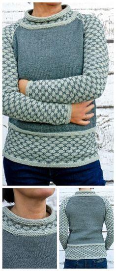Strickanleitung für einen Raglan Pullover mit Muster an Ärmeln und Bündchen / knitting pattern for a raglan pullover made by fashionworks via DaWanda.com