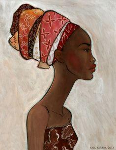 AFRICAN WOMAN portrait van raulguerra op Etsy, €250.00