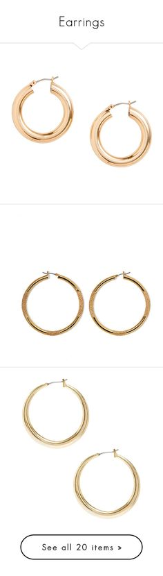 """""""Earrings"""" by eleonore-plot on Polyvore featuring jewelry, earrings, accessories, gold tone jewelry, metal jewelry, chunky earrings, chunk jewelry, metal jewellery, fillers et gold gold pe"""