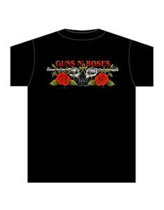 Shooting Logo S-L Grau Guns N Roses Rock Band Damen T-Shirt Amplified