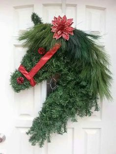 Horse head wreath.  Love this.