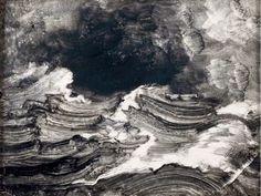 Peter Balke, Stormy Sea oil on cardboard x cm Maggi Hambling, Sea Drawing, Odilon Redon, Stormy Sea, Windy Day, Printmaking, Illustrators, Landscape, Drawings