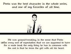 Why I love Peeta.