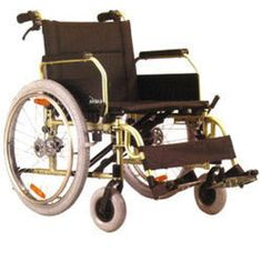 Karma Healthcare KM-8020X Premium Wheelchair is suitable for heavy users. It comes with fold able backrest and detachable swing-away footrests.