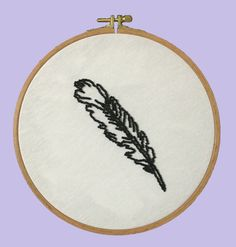 Feather - Hoop Art / Beading, Embroidery, Gift, Modern Craft / Desing By Nephilim by NephilimShop on Etsy