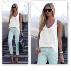2016 Summer moda feminina V-Neck Sleeveless Chiffon Blouse Women Girls Summer Shirt Tops Casual Plus Size Blusas Candy Colors //Price: $9.95 & FREE Shipping //     #women #fashion #babies #love #shopping #follow #instashop #onlineshopping #instashopping #shoppingday #shoppingtime #instagood #photooftheday #happy #cute #followme #tagsforlikes #instagram #bestoftheday