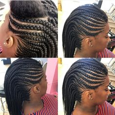 I want my hair this way. Braided Cornrow Hairstyles, Braided Hairstyles For Black Women, African Braids Hairstyles, Braids For Black Hair, Mohawk Braid, Beautiful Braids, Gorgeous Hair, Tail Hairstyle, Twisted Hair