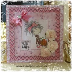 Tatty Twinkle card made using papers from the Tatty Twinkle My Craft Studio CD Rom. Coloured with promarkers