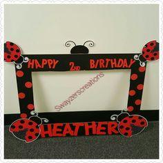 Ladybug photo frame booth