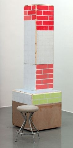 "Manfred Pernice, ""Untitled"", 2009, wood, paint, cm. 64 x 211 x 64"