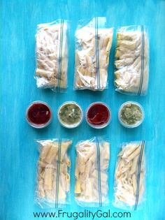 Make your own $0.24 microwavable pasta lunch packets. This is one of the cheapest and easiest freezer cooking recipes you'll ever try.