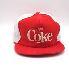 a8c9b007d82 Enjoy Coke vintage Snapback cap Trucker Hat Pinwheel style Full foam