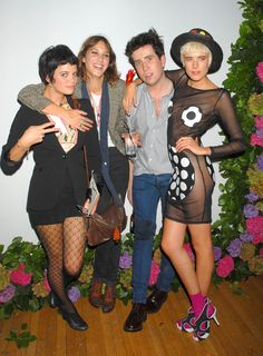 Pixie Geldof, Alexa Chung, Nick Grimshaw, Agyness Deyn Pixie Geldof, Nick Grimshaw, Agyness Deyn, Alexa Chung, Punk, Friends, Style, Fashion, Moda