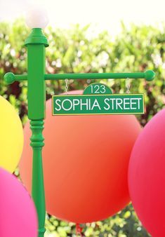 Sesame Street Themed Birthday Party featuring our street sign purchased via etsy :) www.etsy.com/shop/camrynjolee