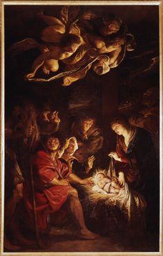 Adoración de los pastores  Peter Paul Rubens Galería de Arte Municipal de Fermo