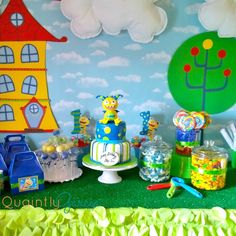 "AJ's ""Henry Hugglemonster"" 1st Birthday Party | CatchMyParty.com"