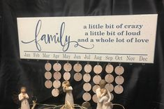 Family Little Bit Of Crazy A Little Bit, Birthday Board, CUSTOM COLORS Family Birthday Board, Family Birthday sign, wedding gift by pamspaintedpretties on Etsy board Your place to buy and sell all things handmade Family Birthday Board, Birthday Dates, Diy Birthday, Family Birthdays, Gifts For Family, Birthday Charts, Cricut Craft Room, Birthday Calendar, Xmas Crafts