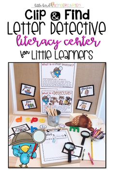 Calling all detectives! Make your hat, put on your badge and let's get started! Such a fun, engaging and high yield way to practice discriminating letters and sounds! Open ended recording and easy to differentiate! Teaching Kindergarten, Teaching Resources, Primary Resources, Teaching Ideas, Learning Centers, Literacy Centers, Hands On Activities, Literacy Activities, Second Grade Teacher