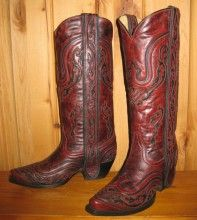 Corral Wine/Black Inlay Boots