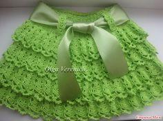 DE MIS MANOS TEJIDOS Y MAS...: Linda falda verde