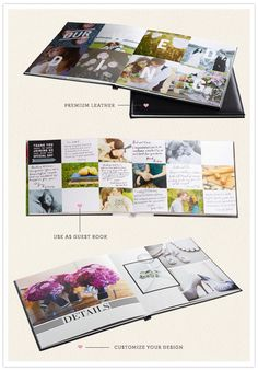Shutterfly wedding photo books - Good idea to give to the bride and groom with pics all the guests took.