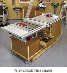 Mobile Sawing  Routing Center Woodworking Plan  I want this for my hubby