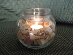 Wine Cork Candle Holder - LOVE THIS IDEA!