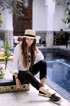 Basics & Straw Hat In Morocco Marrakech | BY ANNA - Fashion and Lifestyle Blog from Stuttgart