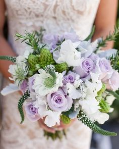 lavender and white wedding flower bouquet, bridal bouquet, wedding flowers, add pic source on comment and we will update it. www.myfloweraffair.com can create this beautiful wedding flower look.